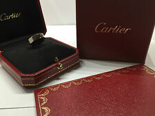 CARTIER LOVE Ring Gr.50 750/000 WEISSGOLD mit original Cartier Zertifikat u. Box