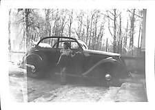 PHOTO AUTOMOBILE DECAPOTABLE PEUGEOT 201  ? VERS 1945