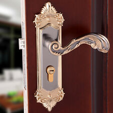 Continental Antique Bronze Mechanical Locks Interior Door Handle Lock Set Gold