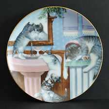HAMILTON COLLECTION - MISCHIEF MAKERS COUNTRY KITTENS CAT PLATE