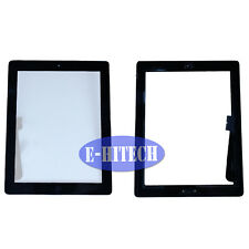 iPad 3 Black Digitizer with Home Button Touch Screen Glass Pad Lens  Apple