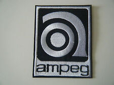 AMPEG PATCH Embroidered IronOn Bass Amplifier Amp Logo Marshall Hiwatt Badge NEW