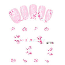 20 stickers nail art water transfer -FLOWERS-unghie adesivi TATTOO fiori rosa!!!