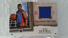 2005-06 UD Portraits Scrapbook Swatches #JA JASON MAXIELL (Pistons)