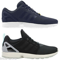 ADIDAS ORIGINALS MEN'S ZX FLUX TRAINERS BLACK NAVY TORSION BAND SIZES 7-12