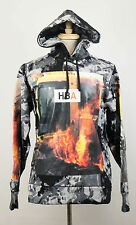 New. HOOD BY AIR Black/Gray Cotton Graphic Hooded Sweater Size S $750