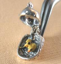 STERLING, enamel Chicken OPENS to Little chicks No Cover Charge CHARM
