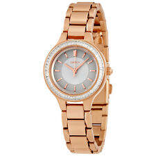 DKNY Chambers Silver Dial Rose Gold tone Ladies Watch Set With Crystals NY2393