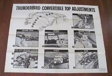1957 1958 FORD THUNDERBIRD Huge POSTER Convertible Top Adjustment Car Service