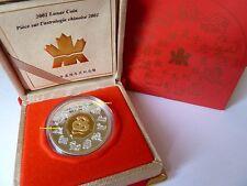 """Canada 15 dólares 2001 plata/oro-pp - """"lunar Snake/serpiente"""""""