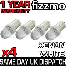 4x LED HID XENON WHITE SIDE LIGHT 233 T4W BA9S BAYONET CAP UK 1 YEAR COVER