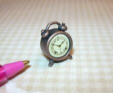 Miniature Antique Bronze Alarm Clock, High Detail!: DOLLHOUSE 1/12 Scale