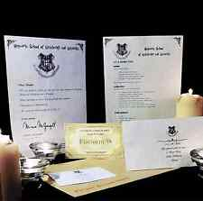 HARRY POTTER HOGWARTS ACCEPTANCE LETTER PERSONALISED GIFT & FREE EXPRESS TICKET