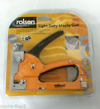 Rolson 44320 Light Duty Staple Gun / Durable Steel Body Stapler Brand New