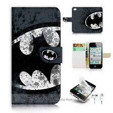 iPhone 4 4S Flip Wallet Case Cover! S8183 Batman