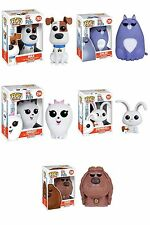 Funko POP Movies The Secret Life of Pets Vinyl Action Figure Set of 5 FREE SH!