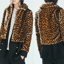 ZARA COAT JACKET leopard PRINT NWT size M UK 10 EU 38 US 6