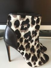 Jerome C Rousseau Open Toe Booties Shoes Calf Hair Size 36