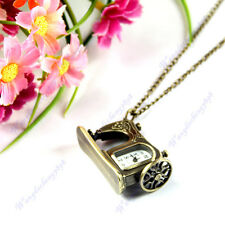 High Quality Metal Sewing Machine Pendant Necklace Chain Pocket Quartz Watch