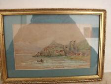 Quadro dipinto acquerello su carta