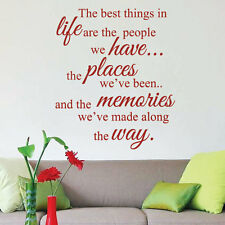 The Best Things in Life Art Wall Sticker Quotes Wall Decals Wall Decoration 433