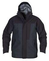 EXTREME WATERPROOF WINDPROOF COAT JACKET BLACK / NAVY MENS LADIES FULL ZIP HOOD