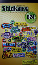 NEW APPLAUSE STICKERS Cool Awesome Super Nice! 624 pc Reward Sticker Book BASE 4