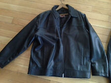 Buttery Soft Wilsons Black Leather Bomber Coat XL