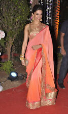 NW Designer Partywear Bollywood Actress Replica Georgette Saree Deepika Padukone