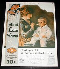 "1919 OLD MAGAZINE PRINT AD, CLEVELAND ""GOLDEN AGE"" MACARONI, FEED A CHILD ART!"