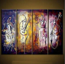 4 pc canvas NO frame. Modern hand-paint Art Oil Painting:Playing Wall No Frames