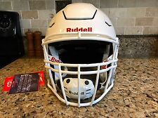 Riddell Revo SPEED FLEX Football Helmet White Facemask Adult Large