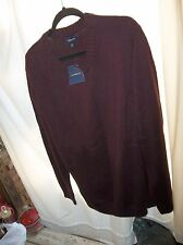 Croft&Barrow Men's XXL Berry/Black Basket weave Sweater NEW With Tags NICE!