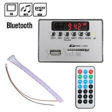 Bluetooth Coche LED 12V MP3 Audio Decoder Board Remoto Control FM Radio USB SD