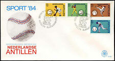 Netherlands Antilles 1984 Sports, Baseball FDC First Day Cover #C26755
