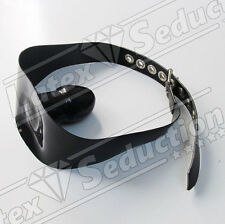 HEAVY RUBBER SOLID MOUTH GAG - Latex Gummi Clinical Fesseln Halsband Harness