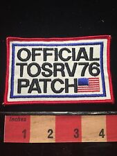 OfficIal TOSRV 76 Patch Bicycle Tour Group PATRIOTIC USA BICENTENNIAL 1976 67MM