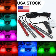 Glow Full Color LED Interior Car Kit Under Dash FootWell Seats Inside Lighting Y