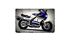 rg400 Bike Motorcycle A4 Retro Metal Sign Aluminium