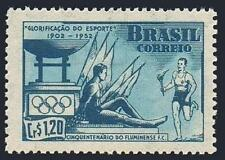Brazil 725, MNH. Fluminense Soccer Club, 50th anniv. Olympic Rings, 1952