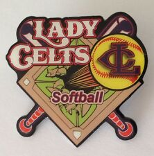 Lady Celts Softball Team Large Auithentic Pin Badge Rare Vintage (J6)