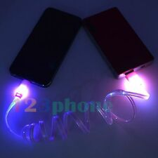 1 M LED LIGHT DATA CHARGER CHARGING CABLE FOR IPHONE 6S 6 PLUS 5 5S 5C SE #PINK