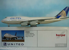 Herpa Wings 1:200 Boeing 747-400 United Airlines N127UA  554602