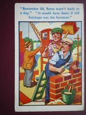 POSTCARD COMIC ALF ROME WAS NOT BUILD IN A DAY - IT WOULD HAVE BEEN IF FATCHOPS