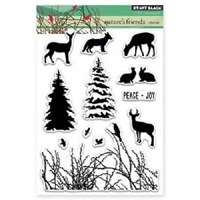 PENNY BLACK RUBBER STAMPS CLEAR NATURE'S FRIENDS STAMP SET