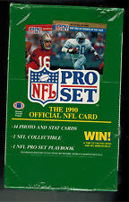 1990 PRO SET SERIES 1 UNOPENED BOX  36 PACKS FOOTBALL CARDS  FROM CASE