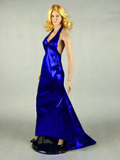 1/6 Scale Phicen, Hot Stuff, Hot Toys, SD - Sexy Female Blue Satin Gown w/ Heels