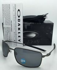 Polarized OAKLEY Sunglasses SQUARE WIRE OO4075-04 Carbon Frame w/ Grey Lenses
