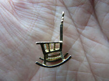 Lovely  fully hallmarked 9ct GOLD Charm ANTIQUE ROCKING CHAIR    vgc