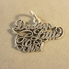.925 Sterling Silver DADDY'S LITTLE GIRL CHARM Word Daughter Father NEW 925 WR12
